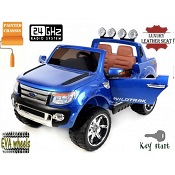 12v JEEP FORD 2 posti BLU LACCATA 2.4 ghz ruote in EVA