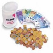 Barattolo euro monete e banconote 09868