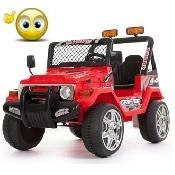 Jeep a due posti 12V  618R ROSSA
